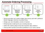 automate ordering processing