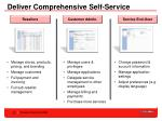 deliver comprehensive self service