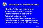 advantages of self measurement