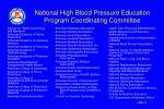 national high blood pressure education program coordinating committee