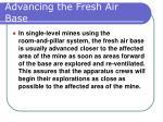 advancing the fresh air base