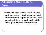 advancing the fresh air base39