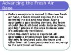 advancing the fresh air base40