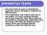 apparatus teams
