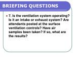 briefing questions88