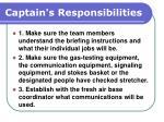 captain s responsibilities103