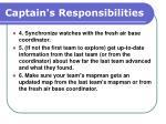 captain s responsibilities104