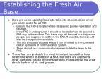 establishing the fresh air base23