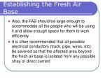 establishing the fresh air base25