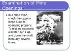 examination of mine openings7