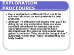 exploration procedures