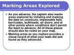 marking areas explored