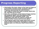 progress reporting