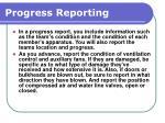 progress reporting167
