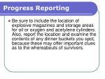 progress reporting170