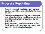progress reporting171
