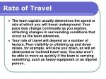 rate of travel