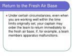 return to the fresh air base186