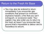 return to the fresh air base187