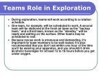 teams role in exploration51
