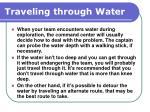 traveling through water