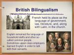 british bilingualism