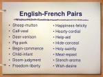 english french pairs