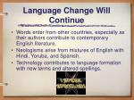 language change will continue