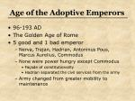 age of the adoptive emperors