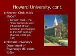 howard university cont