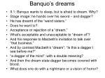 banquo s dreams