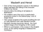 macbeth and herod