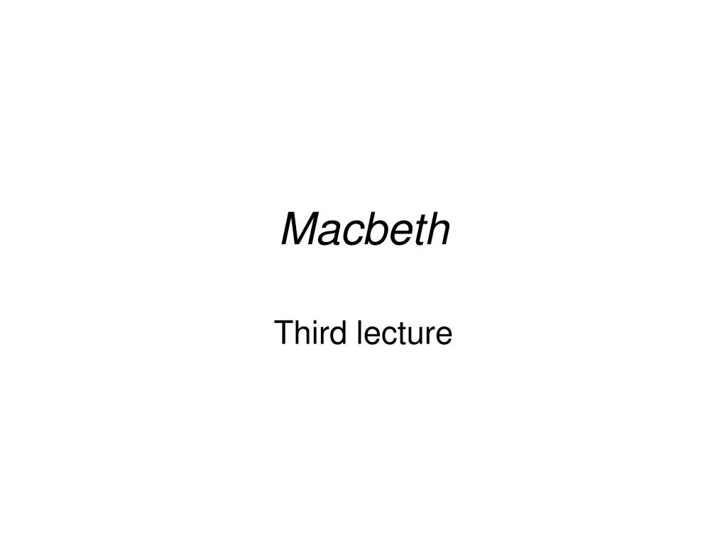 macbeth l.