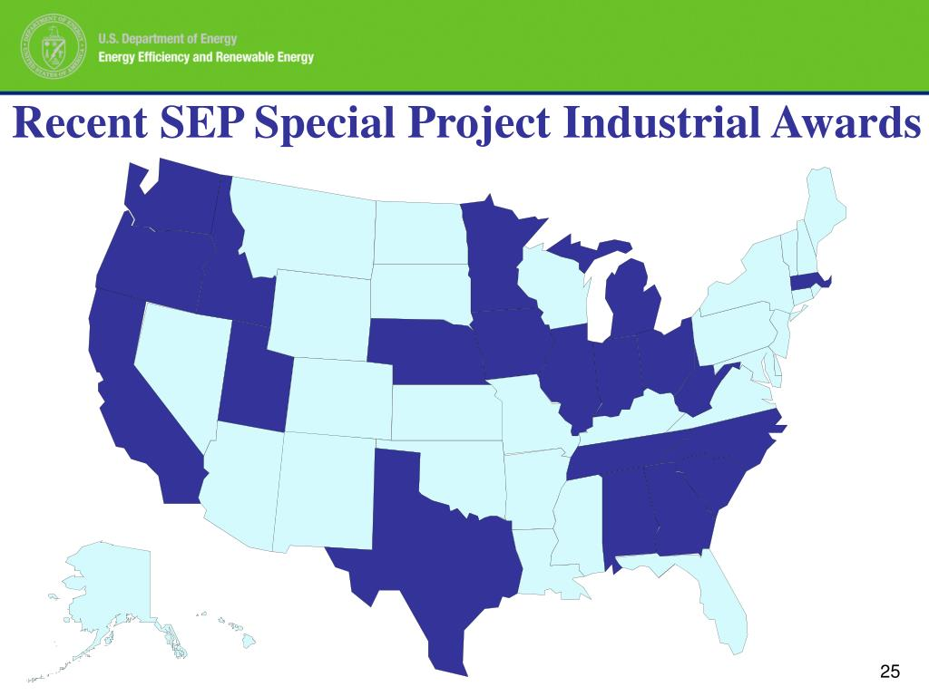 Recent SEP Special Project Industrial Awards