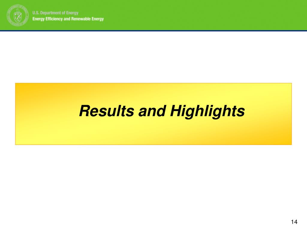 Results and Highlights