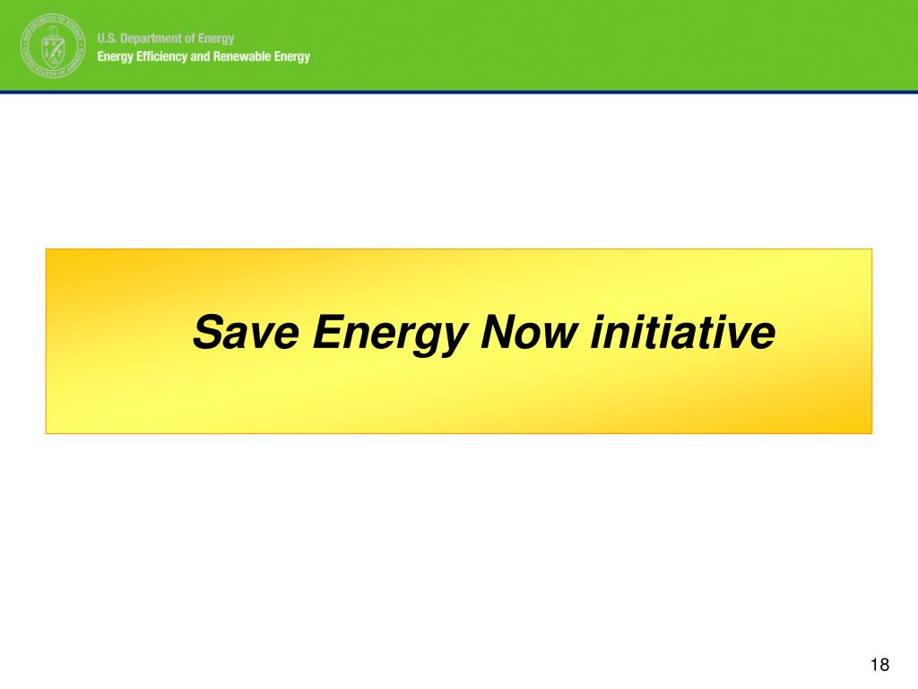 Save Energy Now initiative