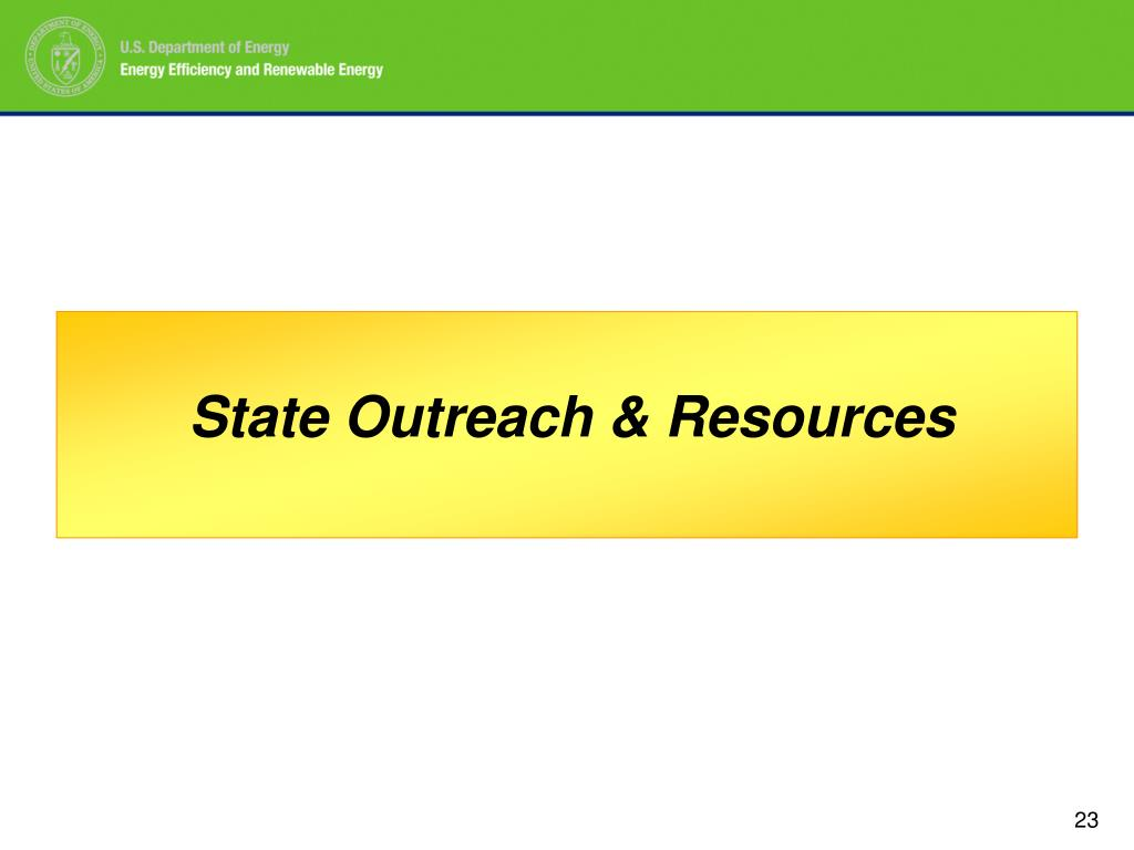 State Outreach & Resources