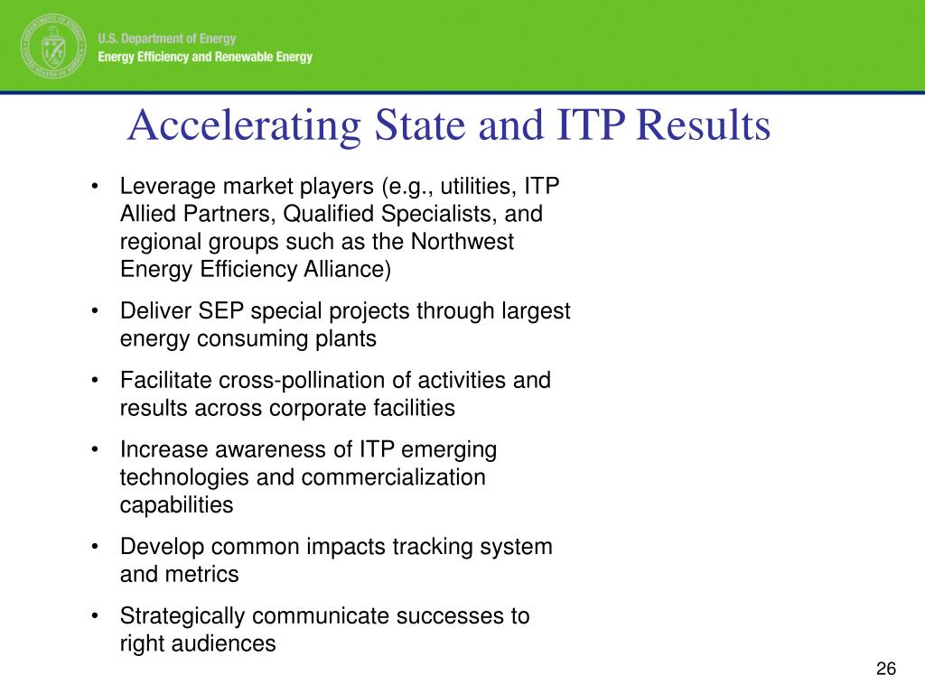 Accelerating State and ITP Results