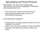 age grading and social structure
