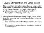 beyond ethnocentrism and deficit models