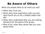 be aware of others23