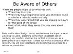 be aware of others24