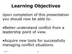 learning objectives75