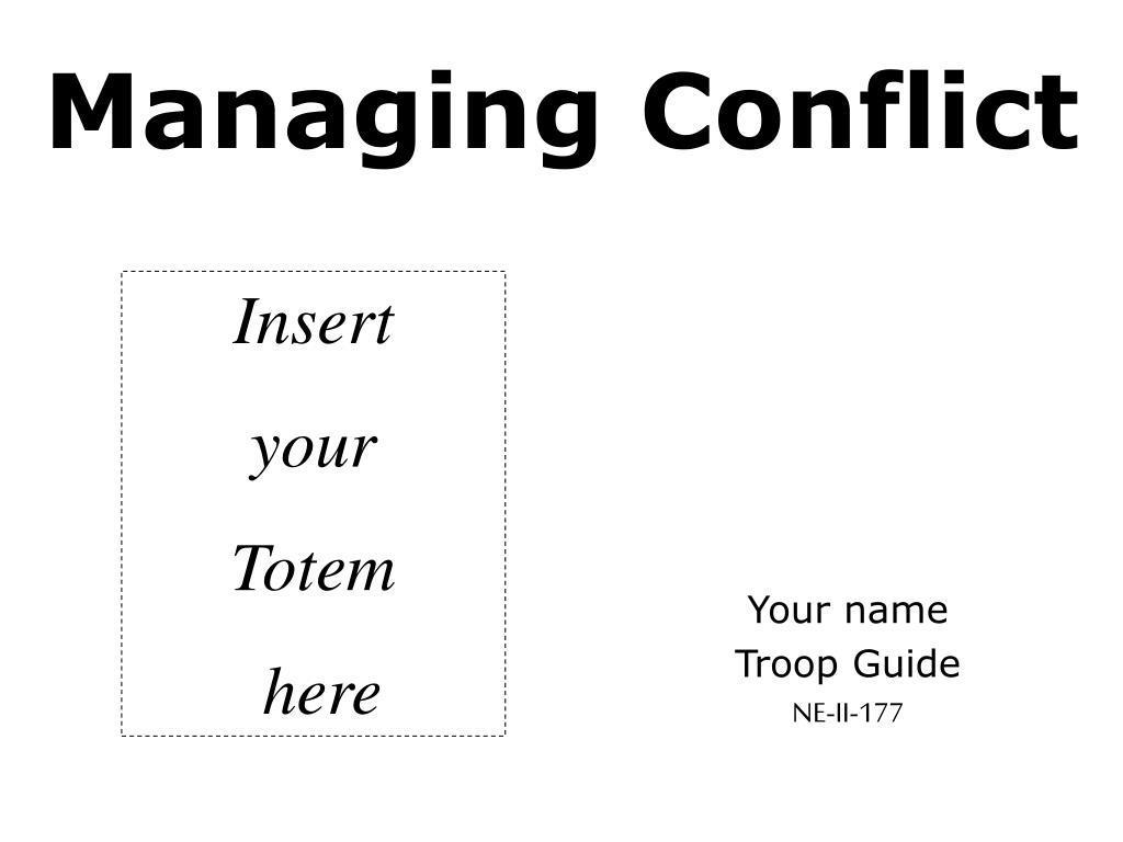 managing conflict l.