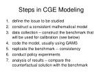 steps in cge modeling