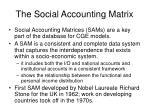 the social accounting matrix