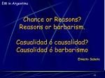 chance or reasons reasons or barbarism casualidad causalidad causalidad barbarismo
