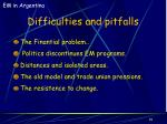 difficulties and pitfalls