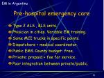 pre hospital emergency care