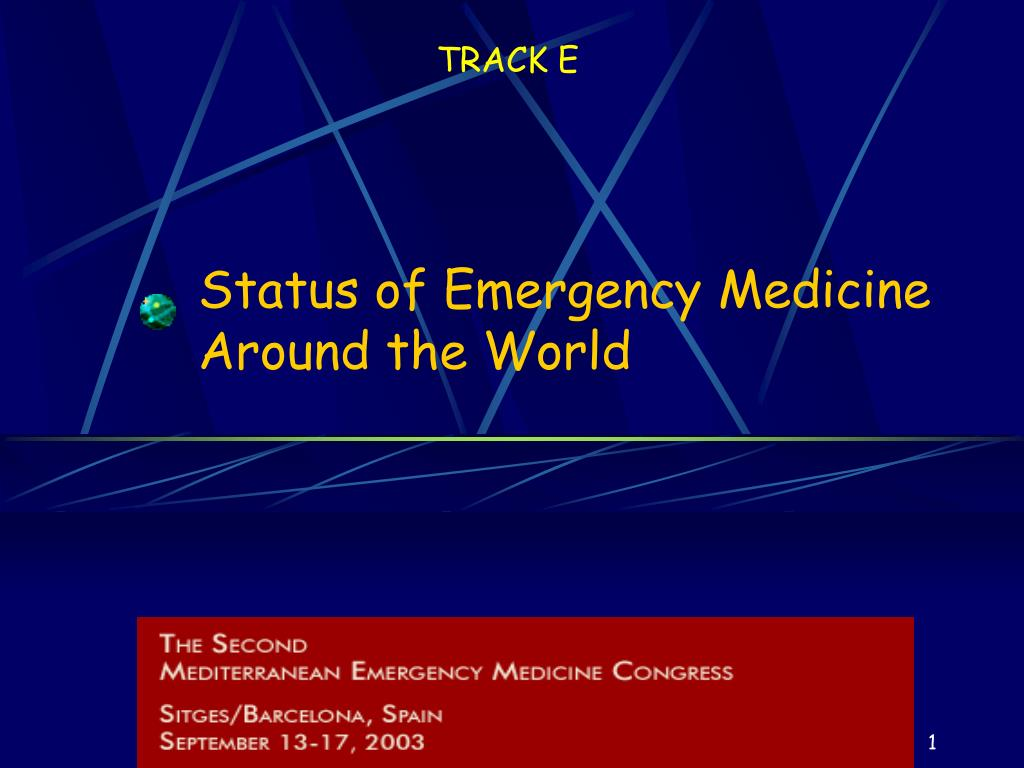 status of emergency medicine around the world l.